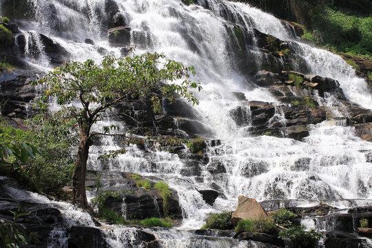 a Beautiful Mae Ya Waterfall, Doi Inthanon National Park, thailand