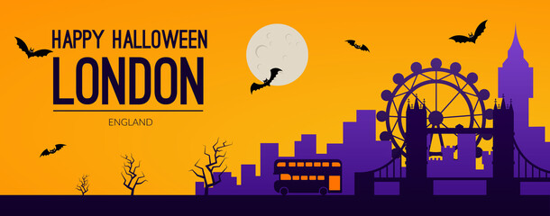 Fototapeta London, UK Halloween holiday background obraz