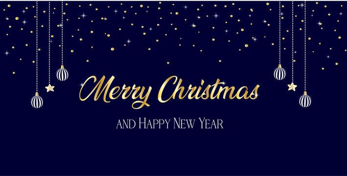 sfondo buon natale e felice anno nuovo