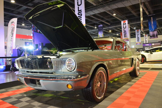 1965 Ford Mustang Fastback at 25th Trans Sport Show in Pasay, Philippines