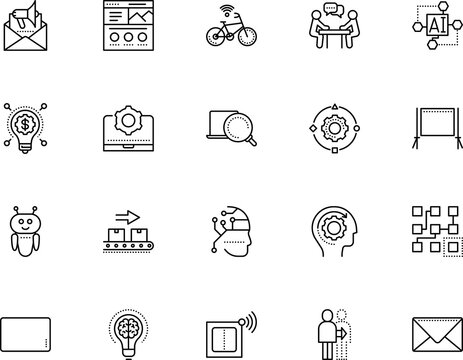 technology vector icon set such as: sport, wheel, bike, industry, colorful, cargo, keyboard, dna, production, blank, transportation, solution, evolution, knowledge, productivity, deadline, webpage