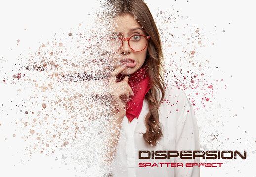 Dispersion Spatter Photo Effect with Particle Mockup