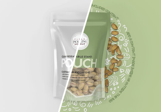 500G Pouch Packaging Mockup with 3 Material Options