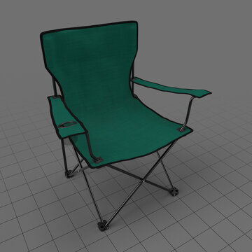 Folding camp armchair