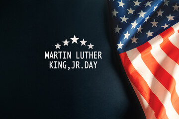 Martin Luther King Day Anniversary - American flag abstract back