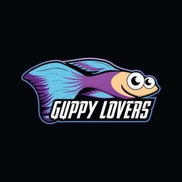 guppy fish logo design