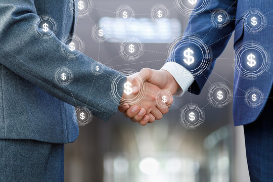 Concept of effective financial partnership in business.