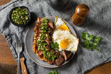 Wall Mural - Homemade Steak and Eggs