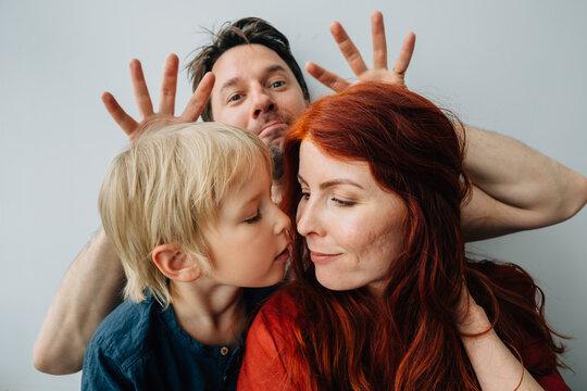 Blonde, Ginger and Brunette Family