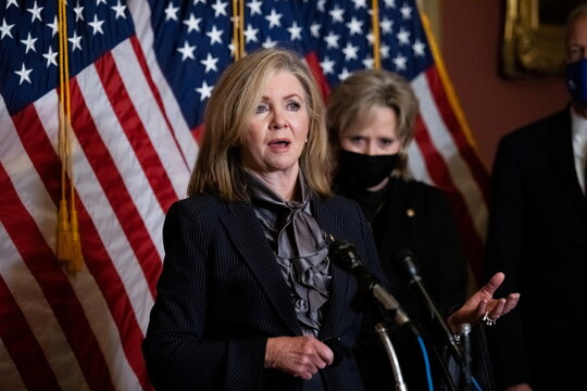 News conference after Judge Amy Coney Barrett was confirmed as Supreme Court Justice