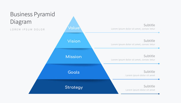 Business pyramid infographic design