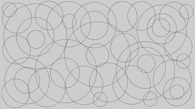 Illustration gray circle geometric background