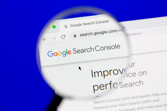 Ostersund, Sweden - October 27, 2020 Google Search Console website. Google Search Console is a web service by Google which allows webmasters to check status and optimize their websites.