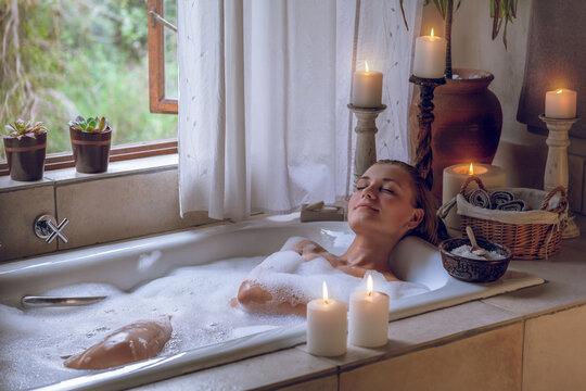 Enjoying day spa
