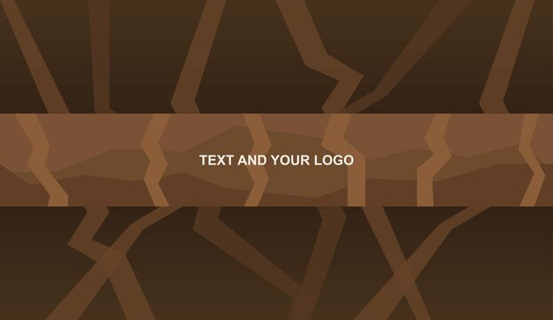 Channel Banner Template with Lines and Shapes