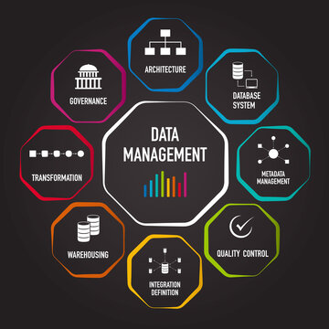 Data management flat vector and icon for presentation and report