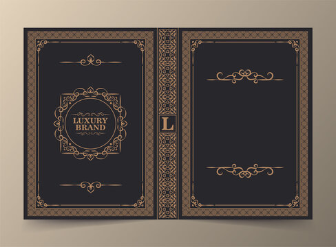 Ornamental book cover design