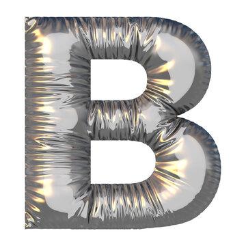 Buchstabe B aufgeblasen
