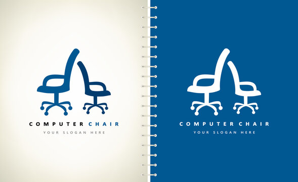computer chair logo furniture design