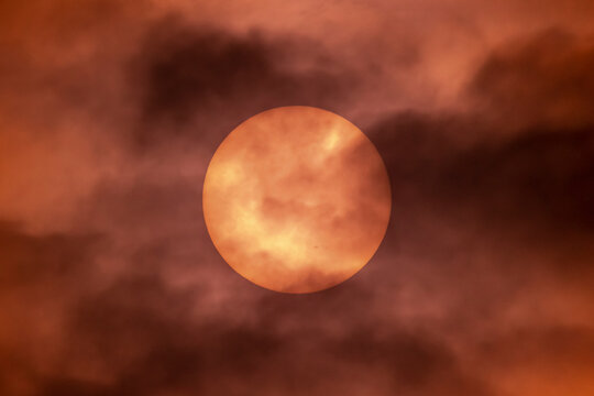 Sun spots on our beautiful closest star at the beginning of the new solar cycle , Cornwall, UK