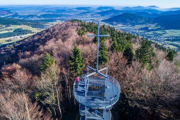 Jaworze, Wieża widokowa 882 m n.p.m. gmina  Grybów, Małopolska