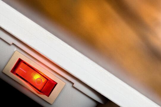 Infrarotheizung Infrarot Heizung Dunkelstrahler Detail mit Wärmestrahlung Heizen Wärme