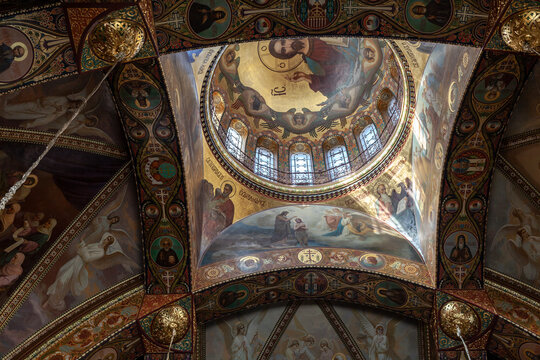 Dome of the Church of the assumption of the blessed virgin. Petersburg