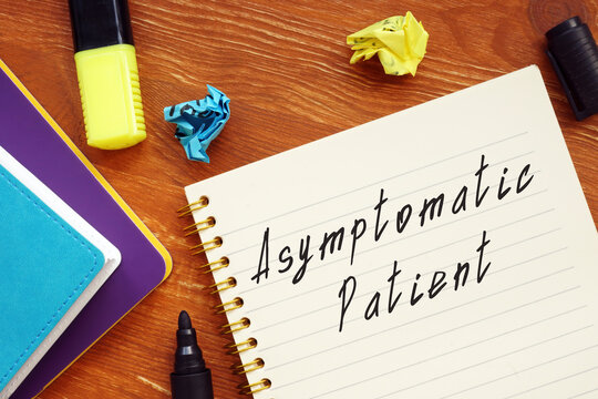Asymptomatic Patient sign on the piece of paper.
