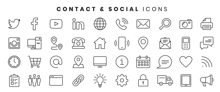 icons contact