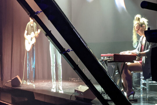 Singer Olsen uses technology to appear as hologram on stage in London
