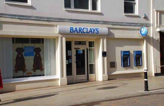 A branch of Barclays Bank at Hastings in East Sussex, England on March 9, 2009.