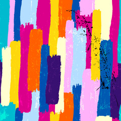 seamless abstract background composition, with stripes, paint strokes and splashes, grungy