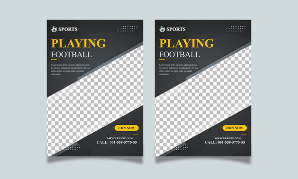 Sports Flyer Template, Sports Flyer, professional flyer A4 size Vector