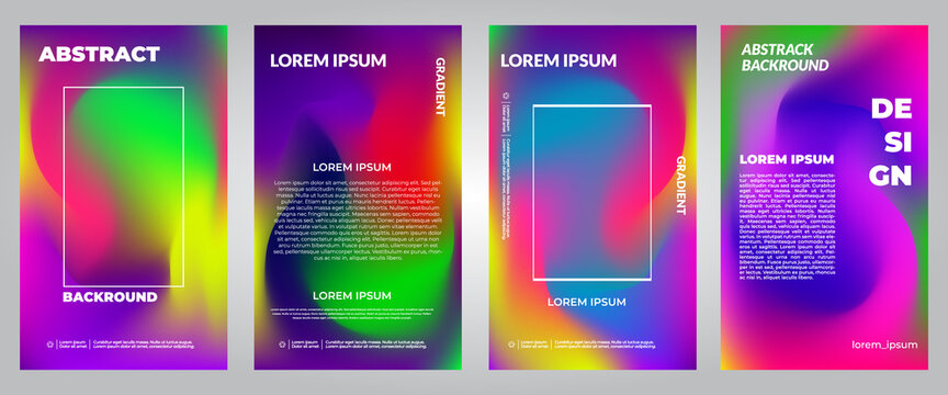 vector illustration of colorful gradient design. Stylish fluid hipster graphics. fluid background for poster design. Blue, yellow, red, orange, pink and green. Banner background and social media post