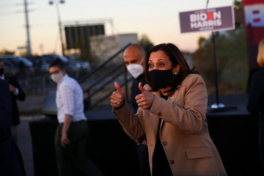 U.S. Democratic vice presidential nominee Senator Kamala Harris holds a campaign event in Phoenix