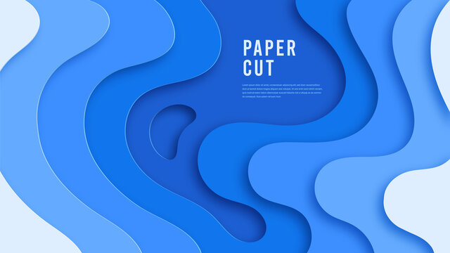 background paper cut abstract 3d realistic modern weaves cut out multilayer wallpaper banner, poster, flyer, business presentation design vector