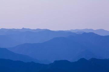 玉置神社から見た山々の風景