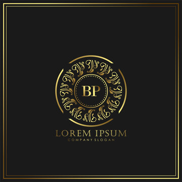 BP Initial Letter Luxury Logo template in vector art for Restaurant, Royalty, Boutique, Cafe, Hotel, Heraldic, Jewelry, Fashion and other vector illustration