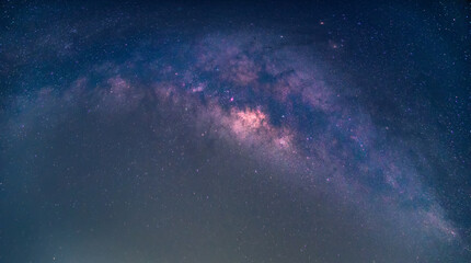 Wall Mural - Landscape with Milky way galaxy.