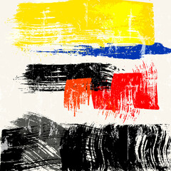 abstract background composition, with paint strokes and splashes, grungy