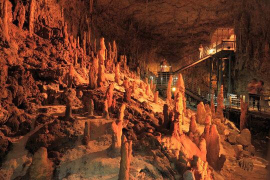 玉泉洞の鍾乳石