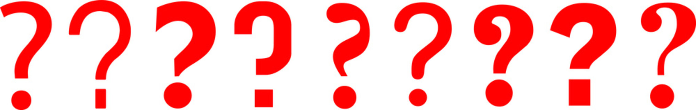 Question marks question signs interrogation points ? symbol icon red 3d queries