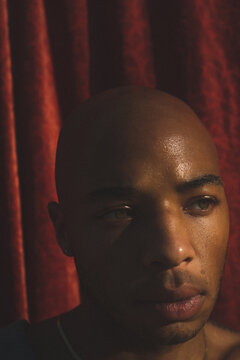 Close Up Of Black Man