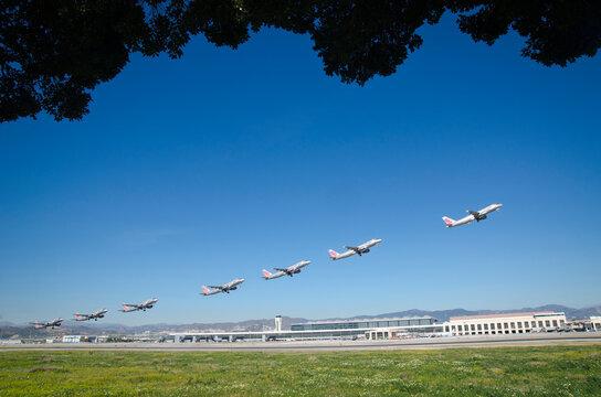 secuencia despegue avión