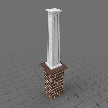 Tapered square column