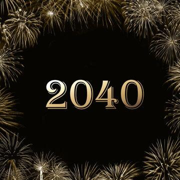 Frohes neues Jahr 2040