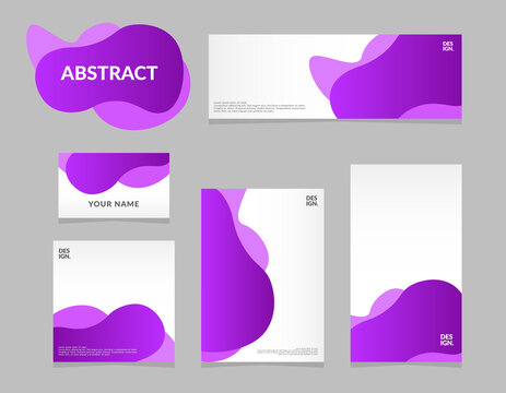 set of abstract decorative vector design