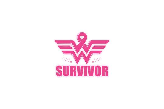 Wonder Woman Breast Cancer Survivor svg, Survivor svg, October-Breast Cancer Awareness Month svg, png, Breast Cancer Awareness Month