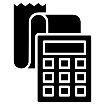 Shopping payment slip dispensing out of bill calculating device, giving an idea for order checkout icon