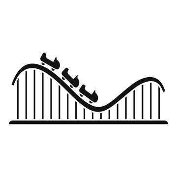 Roller coaster track icon. Simple illustration of roller coaster track vector icon for web design isolated on white background